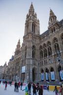 Eislaufen vor dem Wiener Rathaus